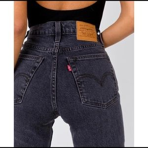 LEVI'S Wedgie Straight Jean That Girl Washed Black